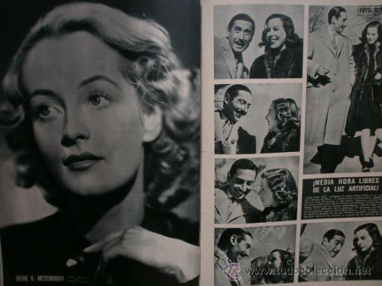 Cine: CAMARA Nº5.1942.IMPERIO ARGENTINA,G.GARBO,M.DIETRICH,C. LOMBARD, G. MONTGOMERY, G. ROGERS, G. COOPER - Foto 8 - 36250943