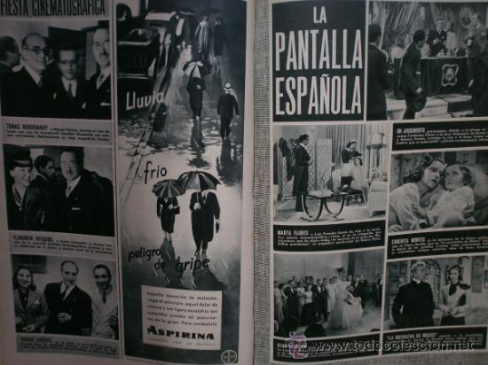 Cine: CAMARA Nº5.1942.IMPERIO ARGENTINA,G.GARBO,M.DIETRICH,C. LOMBARD, G. MONTGOMERY, G. ROGERS, G. COOPER - Foto 11 - 36250943
