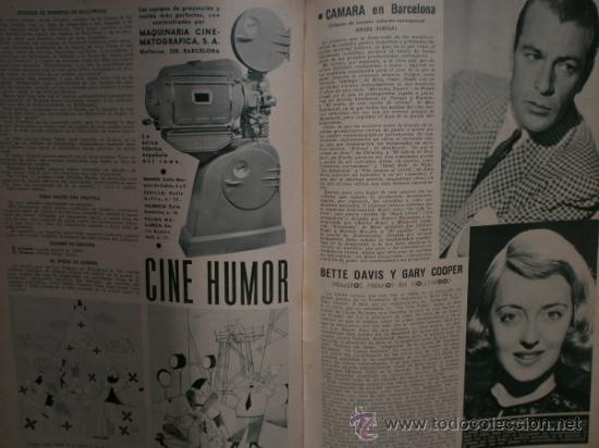 Cine: CAMARA Nº5.1942.IMPERIO ARGENTINA,G.GARBO,M.DIETRICH,C. LOMBARD, G. MONTGOMERY, G. ROGERS, G. COOPER - Foto 12 - 36250943