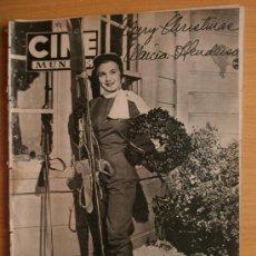 Cine: CINE MUNDO Nº92.1953.MARCIA HENDERSON,M.TOREN,L.MARIANO,M.FELIX,L.RENAUD,L.BACALL,S.MANGANO,R.MORLEY. Lote 36267644