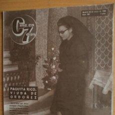 Cine: CINE EN 7 DIAS Nº199.1965.P. RICO,J. DE LA PALMA,M.MARTIN,L.TAYLOR,MISS MUNDO,SORAYA,A.GARDNER,GRANT. Lote 36268764