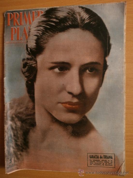PRIMER PLANO Nº932.1958.G.DE TRIANA,P.ANGELI,D.KAYE,K.DOUGLAS,I.BERGMAN,J.COLLINS,B.BARDOT,G.GARBO. (Cine - Revistas - Primer plano)
