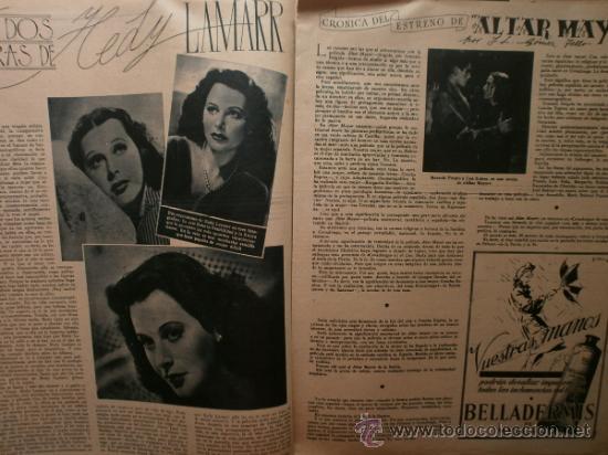 Cine: PRIMER PLANO Nº176.1944.CELIA GAMEZ,R.RIVELLES,H.LAMARR,C.MONTES,I.DUNNE,G.SIMMS,M.FRESNO,X.CUGAT. - Foto 5 - 36285333