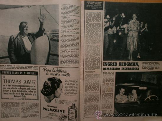 Cine: PRIMER PLANO Nº932.1958.G.DE TRIANA,P.ANGELI,D.KAYE,K.DOUGLAS,I.BERGMAN,J.COLLINS,B.BARDOT,G.GARBO. - Foto 6 - 36283734