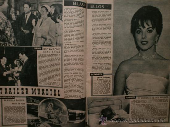 Cine: PRIMER PLANO Nº932.1958.G.DE TRIANA,P.ANGELI,D.KAYE,K.DOUGLAS,I.BERGMAN,J.COLLINS,B.BARDOT,G.GARBO. - Foto 7 - 36283734