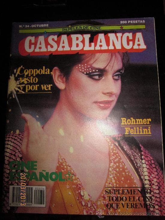 CASABLANCA Nº34-OCTUBRE ROHMER FELLINI-COPPOLA-CINE ESPAÑOL (Cine - Revistas - Papeles de cine)