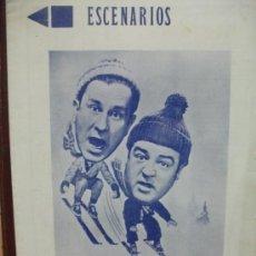 Cine: REVISTA ESCENARIOS. AÑO 1941 . INGRID BERMAN LOS 4 HIJOS DE ADAN. PISTOLEROS SIN PISTOLAS ABOTT Y. Lote 36435779