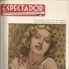 """Cine: REVISTA """"EL ESPECTADOR"""" NÚM. 2 DE ABRIL DE 1946. Lote 36439113"""
