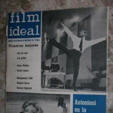 Cine: FILM IDEAL Nº114. AÑO 1963. ORSON WELLES,C.SAURA,SI.SIGNORET,M.ZARZO,M.SUMMER,ANTONIONI,M.KOCSIS.. Lote 36505061