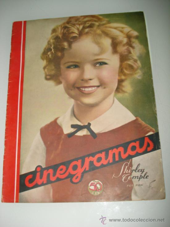 ANTIGUA REVISTA CINEGRAMAS CON SHIRLEY TEMPLE Nº 82 DE 1936. (Cine - Revistas - Cinegramas)