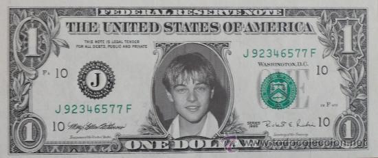 DOLAR SOURVENIR 1$ LEONARDO DICAPRIO AÑO 1998 (Cine - Revistas - Colección grandes películas)