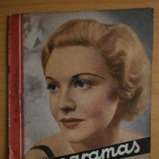 Cine: CINEGRAMAS Nº41.1935.MADELEINE CARROLL,M.CURTIS,V.HEPBURN,C.RODRIGUEZ,J.MURAT,R.CORTEZ,R.VALENTINO.. Lote 36568524