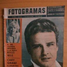 Cine: FOTOGRAMAS.Nº864.1965.JOHN ERICSON,H.MILLS,C.GRANT,J.FONDA,MASTROIANNI,C.AZNAVOUR,MISS CATALUÑA,EGEA. Lote 36569833
