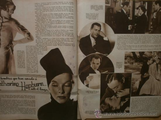 Cine: CINEGRAMAS Nº41.1935.MADELEINE CARROLL,M.CURTIS,V.HEPBURN,C.RODRIGUEZ,J.MURAT,R.CORTEZ,R.VALENTINO. - Foto 4 - 36568524