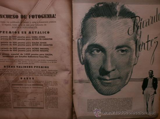 Cine: CINEGRAMAS Nº41.1935.MADELEINE CARROLL,M.CURTIS,V.HEPBURN,C.RODRIGUEZ,J.MURAT,R.CORTEZ,R.VALENTINO. - Foto 10 - 36568524