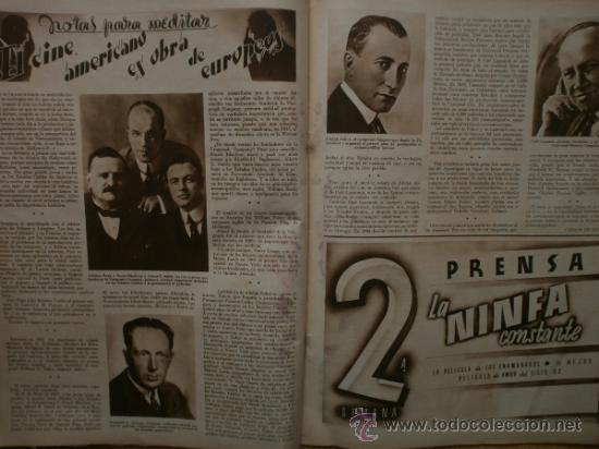 Cine: CINEGRAMAS Nº41.1935.MADELEINE CARROLL,M.CURTIS,V.HEPBURN,C.RODRIGUEZ,J.MURAT,R.CORTEZ,R.VALENTINO. - Foto 13 - 36568524