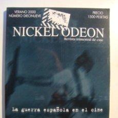 Cine: NICKEL ODEON Nº 19 2000. ESPECIAL GUERRA CIVIL ESPAÑOLA. ILUSTRADA Y CASI NUEVA.. Lote 36640286