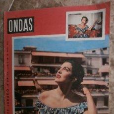 Cine: ONDAS Nº69.1955.KATY JURADO,CARLOS DEL CASTILLO,TEX - MEN,FRANCO,JOSE LUIS SAENZ DE HEREDIA.. Lote 36690045