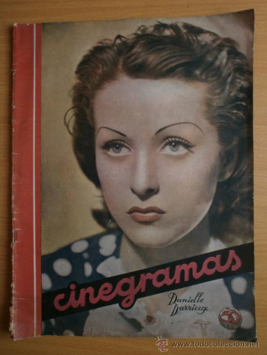 CINEGRAMAS Nº69.1936.DANIELLE DARRIEUX,G.BRENT,G.FARBO,M.DIETRICH,E.VILCHES,G.STANDING,E.DEL CAMPO. (Cine - Revistas - Cinegramas)