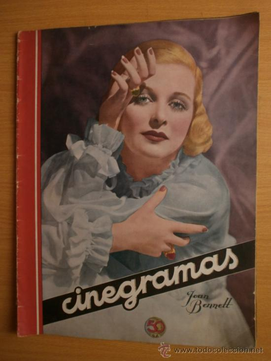 CINEGRAMAS Nº59.1935.JOAN BENNETT,E.JANNING,B.KEATON,P.MUNI,F.ELIAS,R.KEELER,D.DEL RIO. (Cine - Revistas - Cinegramas)