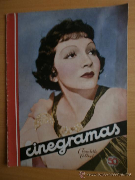 CINEGRAMAS Nº52.1935.CLAUDETTE COLBERT,S.TEMPLE,F.ASTAIRE,L.YOUNG,A.SANTELL,J.MUIR Y M.REINHARDT. (Cine - Revistas - Cinegramas)