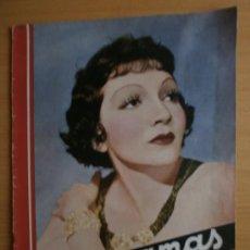 Cine: CINEGRAMAS Nº52.1935.CLAUDETTE COLBERT,S.TEMPLE,F.ASTAIRE,L.YOUNG,A.SANTELL,J.MUIR Y M.REINHARDT.. Lote 36692242