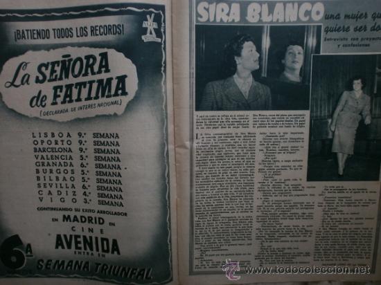Cine: PRIMER PLANO Nº580.1951.ANN BLYTH,C.GRANT,P.RICO,C.SEVILLA,S.BLANCO,P.NIETO,L.PALMER,TURNER,SINATRA. - Foto 6 - 36690265