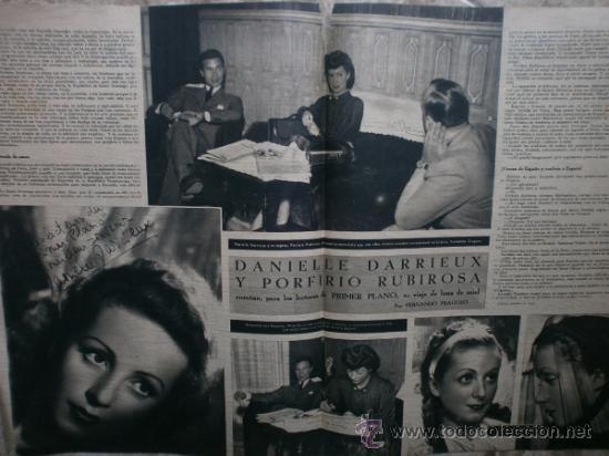 Cine: PRIMER PLANO Nº106.1942.DANIELLE DARRIEUX,J.BAKER,A.MAYO,D.DARRIEUX,P.RUBIROSA,V.GIOI,R.CANCIO,CASAL - Foto 5 - 36690518