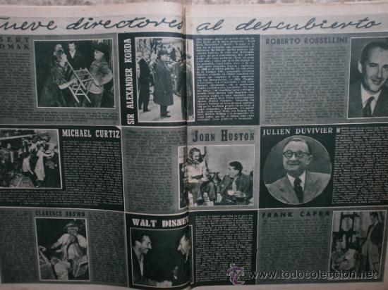 Cine: PRIMER PLANO Nº456.1949.ANN BLYTH,R.CLAIR,O.WELLES,M.DIETRICH,P.VALESKA,L.TAYLOR,T.POWER,ESMERALDA. - Foto 3 - 36690960