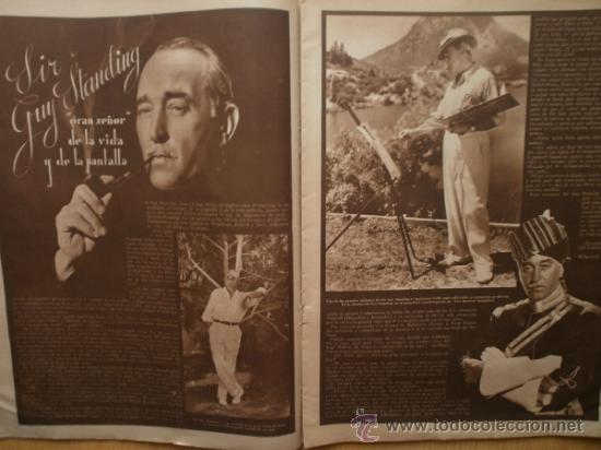 Cine: CINEGRAMAS Nº69.1936.DANIELLE DARRIEUX,G.BRENT,G.FARBO,M.DIETRICH,E.VILCHES,G.STANDING,E.DEL CAMPO. - Foto 7 - 36691888