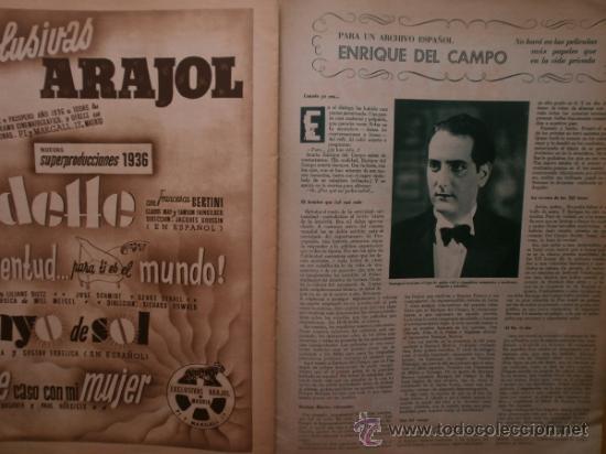 Cine: CINEGRAMAS Nº69.1936.DANIELLE DARRIEUX,G.BRENT,G.FARBO,M.DIETRICH,E.VILCHES,G.STANDING,E.DEL CAMPO. - Foto 12 - 36691888