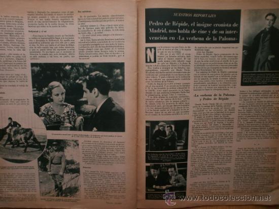Cine: CINEGRAMAS Nº69.1936.DANIELLE DARRIEUX,G.BRENT,G.FARBO,M.DIETRICH,E.VILCHES,G.STANDING,E.DEL CAMPO. - Foto 13 - 36691888