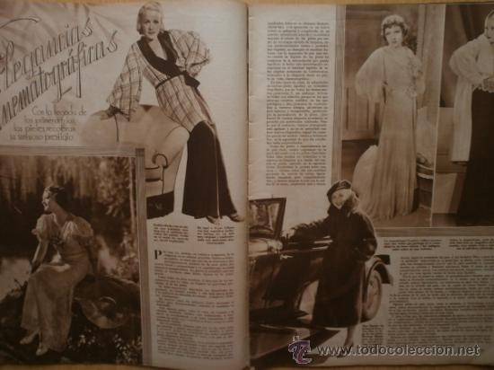 Cine: CINEGRAMAS Nº59.1935.JOAN BENNETT,E.JANNING,B.KEATON,P.MUNI,F.ELIAS,R.KEELER,D.DEL RIO. - Foto 5 - 36692149