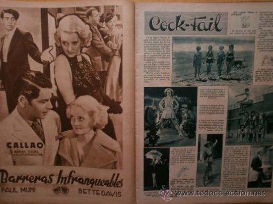 Cine: CINEGRAMAS Nº59.1935.JOAN BENNETT,E.JANNING,B.KEATON,P.MUNI,F.ELIAS,R.KEELER,D.DEL RIO. - Foto 6 - 36692149