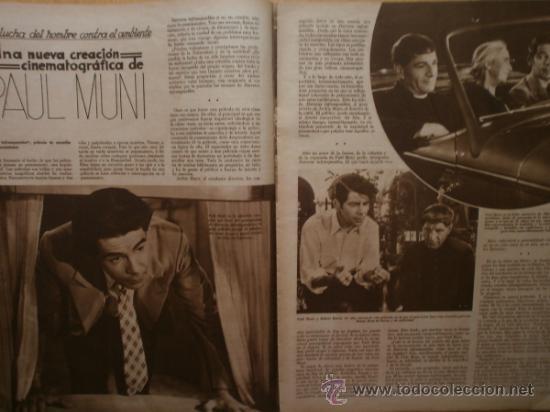Cine: CINEGRAMAS Nº59.1935.JOAN BENNETT,E.JANNING,B.KEATON,P.MUNI,F.ELIAS,R.KEELER,D.DEL RIO. - Foto 8 - 36692149