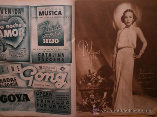 Cine: CINEGRAMAS Nº59.1935.JOAN BENNETT,E.JANNING,B.KEATON,P.MUNI,F.ELIAS,R.KEELER,D.DEL RIO. - Foto 11 - 36692149