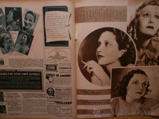 Cine: CINEGRAMAS Nº59.1935.JOAN BENNETT,E.JANNING,B.KEATON,P.MUNI,F.ELIAS,R.KEELER,D.DEL RIO. - Foto 16 - 36692149