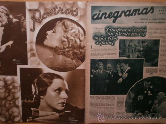 Cine: CINEGRAMAS Nº52.1935.CLAUDETTE COLBERT,S.TEMPLE,F.ASTAIRE,L.YOUNG,A.SANTELL,J.MUIR Y M.REINHARDT. - Foto 2 - 36692242