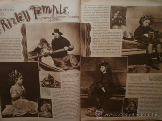 Cine: CINEGRAMAS Nº52.1935.CLAUDETTE COLBERT,S.TEMPLE,F.ASTAIRE,L.YOUNG,A.SANTELL,J.MUIR Y M.REINHARDT. - Foto 4 - 36692242