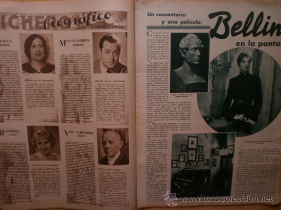 Cine: CINEGRAMAS Nº52.1935.CLAUDETTE COLBERT,S.TEMPLE,F.ASTAIRE,L.YOUNG,A.SANTELL,J.MUIR Y M.REINHARDT. - Foto 6 - 36692242