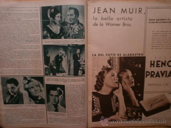 Cine: CINEGRAMAS Nº52.1935.CLAUDETTE COLBERT,S.TEMPLE,F.ASTAIRE,L.YOUNG,A.SANTELL,J.MUIR Y M.REINHARDT. - Foto 8 - 36692242
