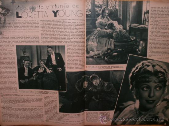 Cine: CINEGRAMAS Nº52.1935.CLAUDETTE COLBERT,S.TEMPLE,F.ASTAIRE,L.YOUNG,A.SANTELL,J.MUIR Y M.REINHARDT. - Foto 11 - 36692242