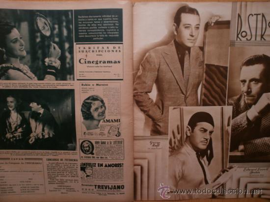 Cine: CINEGRAMAS Nº52.1935.CLAUDETTE COLBERT,S.TEMPLE,F.ASTAIRE,L.YOUNG,A.SANTELL,J.MUIR Y M.REINHARDT. - Foto 18 - 36692242