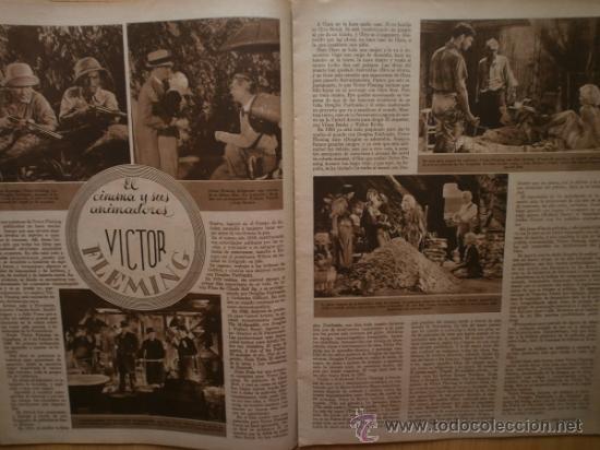 Cine: CINEGRAMAS Nº58.1935.FRANCES GRANT,G.RAFT,S.TEMPLE,V.FLEMING,J.HARLOW,H.CAHAGAN,M. DEL CARMEN. - Foto 10 - 36692635