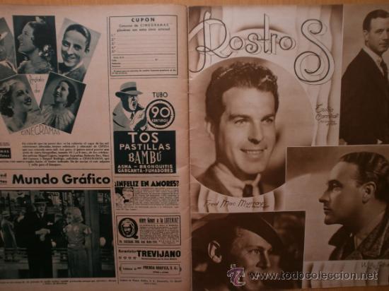 Cine: CINEGRAMAS Nº58.1935.FRANCES GRANT,G.RAFT,S.TEMPLE,V.FLEMING,J.HARLOW,H.CAHAGAN,M. DEL CARMEN. - Foto 17 - 36692635