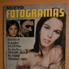 Cine: FOTOGRAMAS.Nº1113.1970.GERALDINE CHAPLIN,M.FARROW,F.FERNAN GOMEZ,E.PENELLA,J.CALVO,MIKE,A.GADE.. Lote 36762909