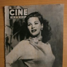 Cine: CINE MUNDO Nº91.1953.IVONNE DE CARLO,J.POWELL,J.NEGRETE,O.WELLES,L.FLORES,C.SEVILLA,D.DARRIEUX.. Lote 36766896