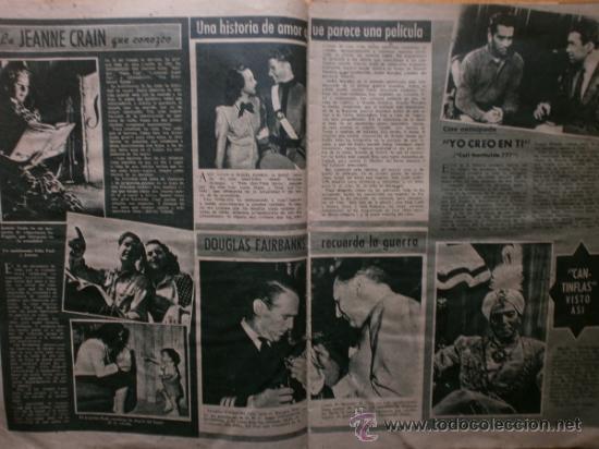 Cine: PRIMER PLANO Nº418.1948.JANIS PAIGE,V.MATURE,C.GRANT,J.CRAIN,C.LEE,S.TRACY,M.CABRE,D.KERR. - Foto 5 - 36767366