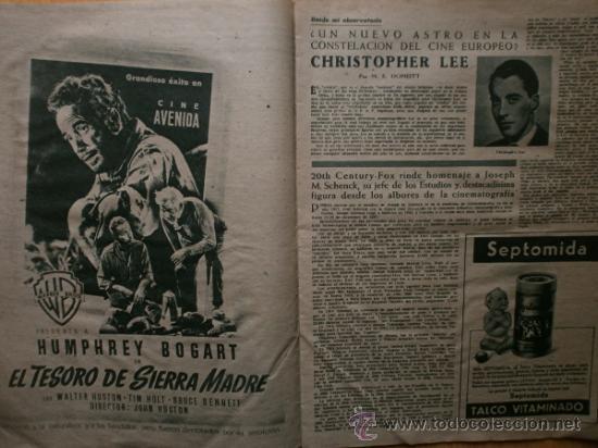 Cine: PRIMER PLANO Nº418.1948.JANIS PAIGE,V.MATURE,C.GRANT,J.CRAIN,C.LEE,S.TRACY,M.CABRE,D.KERR. - Foto 6 - 36767366