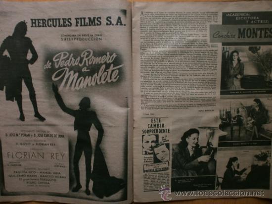 Cine: PRIMER PLANO Nº394.1948.JANIS PAIGE,M.FELIX,J.REYNOLDS,V.FRANCEN,C.MONTES,M.DIETRICH,A.SMITH,S.GRAY. - Foto 5 - 36767466